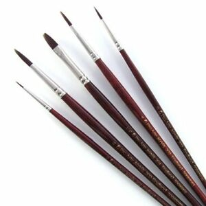 Pro-Arte-Acrylix-Synthetic-Acrylic-Round-Flat-Filbert-amp-Rigger-Paint-Brushes