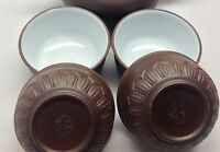Chinese YiXing ZiSha Lotus Dark Brown Glazed clay Teacup Bowl-cup cup 40ml *4pcs