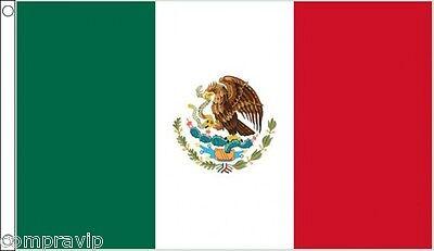 BANDERA MEXICO MEJICO MEXICANA 150X90CM  ENVIO DESDE ESPAÑA 2-3 DIAS