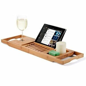 Merveilleux Image Is Loading Expandable Bamboo Bathtub Caddy Bath Tray Bathroom Cloth