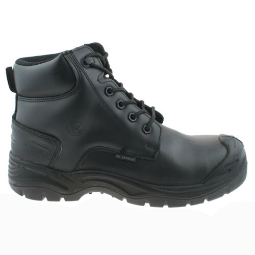 APACHE UTILITY BLACK LEATHER WATERPROOF NON METALLIC SAFETY WORKWEAR BOOTS