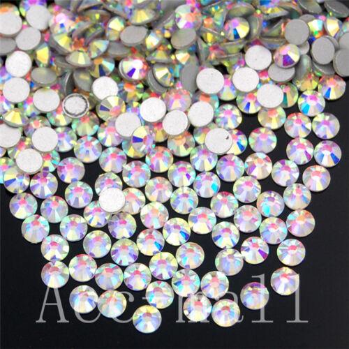 Clear Aérographe 2880//7220pcs Cristal Flatback Strass Non Hotfix Nail Art 20//50 brut