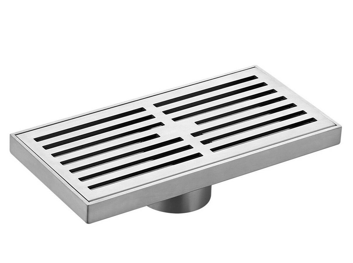 Kinetic RECTANGULAR SLOTTED FLOOR GRATE Stainless Steel- 200mm, 300mm Or 400mm