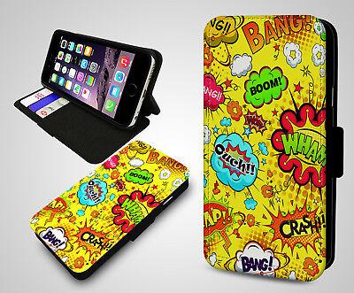 Boom Comic Book Pattern Credit Card Holder Wallet S5983