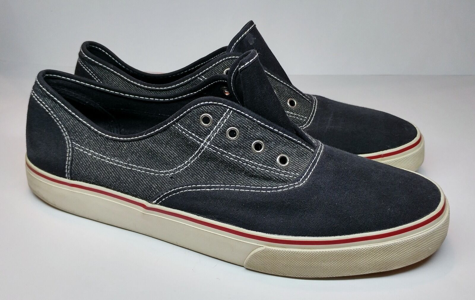Men's Mossimo Navy Comfort Casual Canvas Shoes Navy Mossimo Blue/White/Red Size 12 ff7b7f