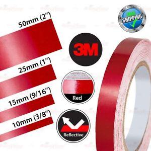 3M Reflektorband Reflektierende Reflektor Selbstklebend Reflexfolie Streifen ROT