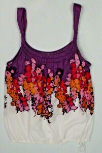 American-Eagle-Outfitters-womens-medium-purple-orange-tank-top-watercolor