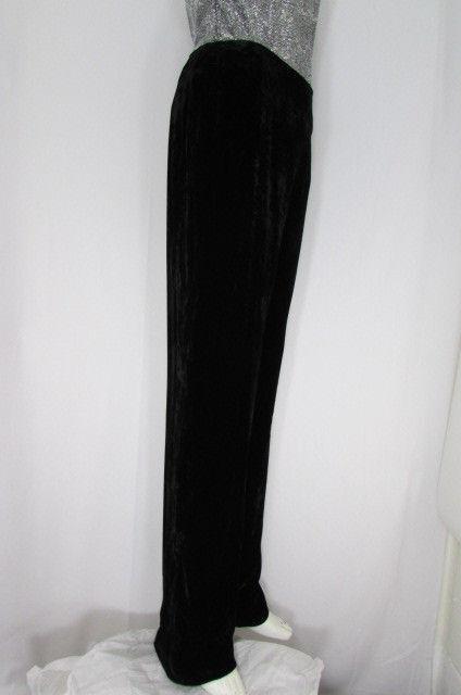 Oscar De La Renta Schwarz Arbeitshose Bekleidung Winter Velvet Hosen Größe 10