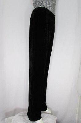 Oscar De La Renta Women Black Work Pants Dressy Winter Velvet Trousers Size 10
