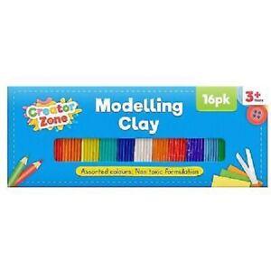 16 X Argile à Modeler Bandes Couleurs Enfants Art Artisanat Plasticine Play Doh
