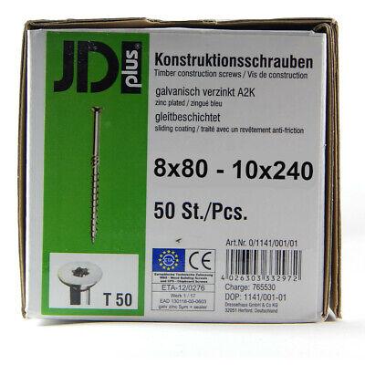 SK Dresselhaus jdplus tableros de tornillos 8x80-10x240 TORX D Holzbauschrauben