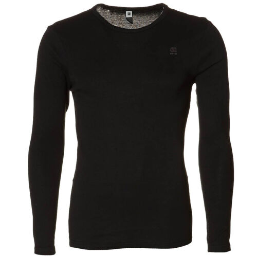 G-Star Raw round Neck Baseball Crew Ls Longsleeve Shirt Black D07204 124 990
