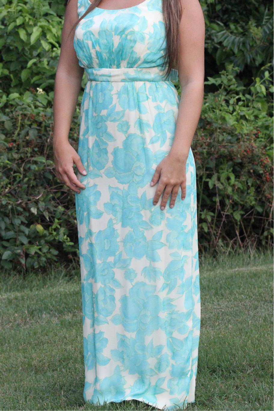 Vintage Lee Claire Maxi Dress - image 3