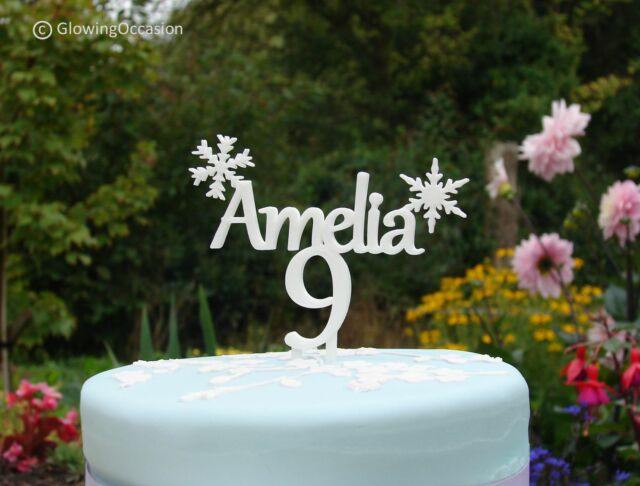Astonishing Personalised Name Birthday Cake Topper Decoration With Frozen Personalised Birthday Cards Paralily Jamesorg