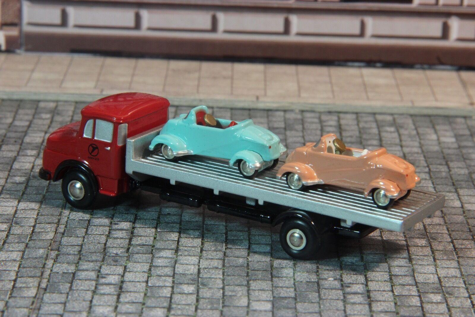 Schuco 05866 05866 05866 MB L322 Pritschen-LKW mit 2 Messerschmitt Kabinenroller 1 1000  | Exquisite (mittlere) Verarbeitung  973f19