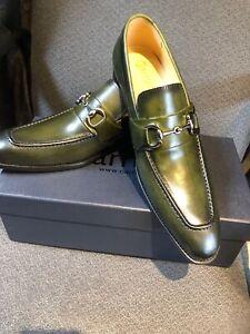 Carrucci Bit Loafer Men/'s Slip-on Dress Leather Shoes Black