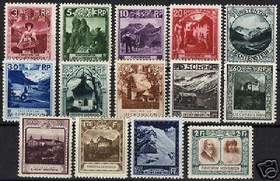 Liechtenstein 1930 YV 94-107 MLH VF