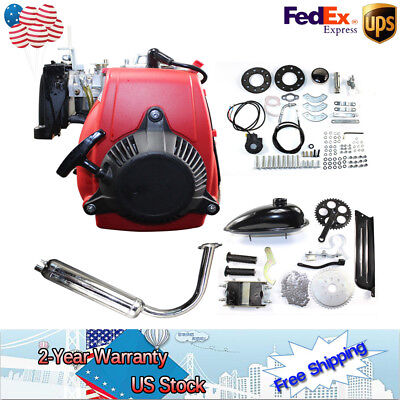 49CC4-Stroke GAS PETROL MOTORIZED BICYCLE ENGINE Belt GearScooter2L 44 tooth SET