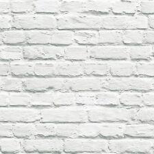 Item 1 Muriva Painted White Brick Wallpaper 10m Long 102539 Feature Wall Decor New