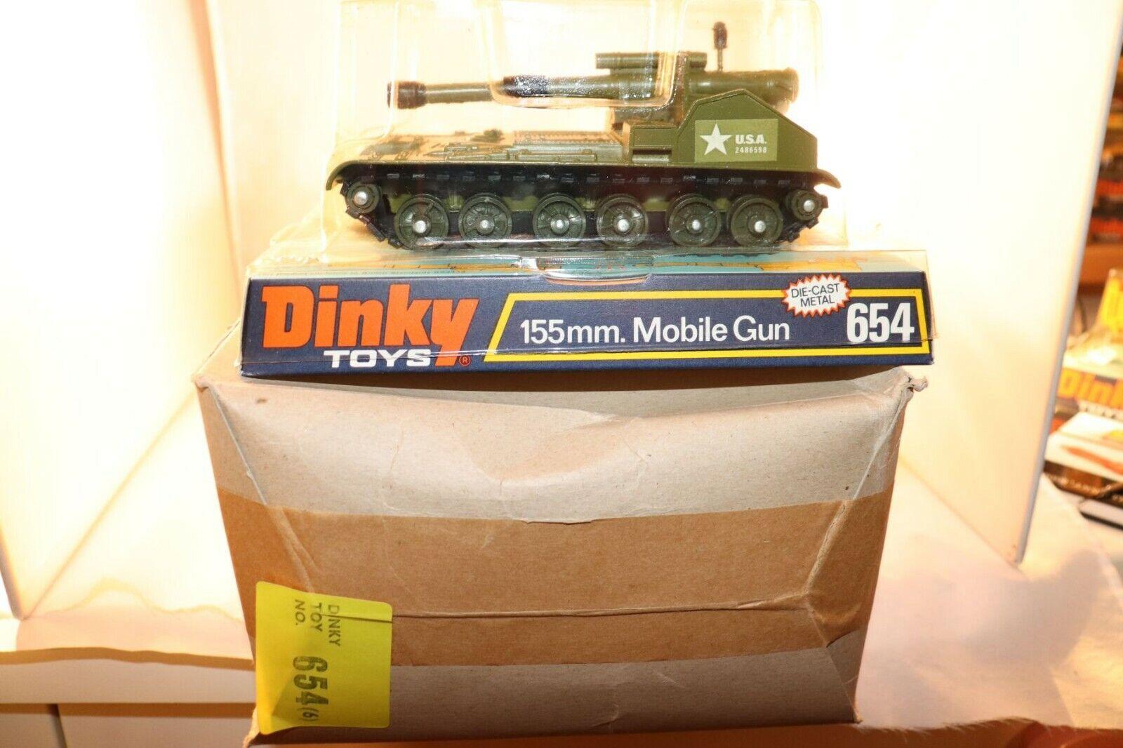 100% autentico Dinky Juguetes 654 654 654 FULL UNOPENED TRADE BOX WITH SIX Mobile Gun Perfect mint in box  gran descuento