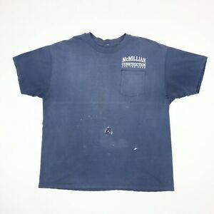 Destroyed-Construction-Worker-T-Shirt-Sun-Faded-Distressed-Bleach-Grunge-Blue-XL