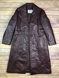 matelassé Longry brun Leathers L femmes pardessus pour Manteau Vintage marron Vintage 5q860C