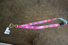Details about  /NEW Simply Southern Key Ring Breakaway Lanyard ID Card Holder-NWT Paisley Pink