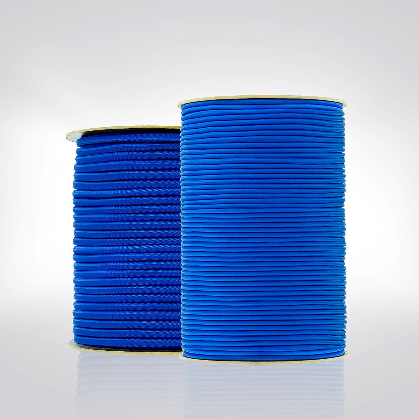 GUMMISEIL 4mm Planenseil - 12mm Expanderseil Blau Spannseil Gummileine Planenseil 4mm Neu GR5 3b0229
