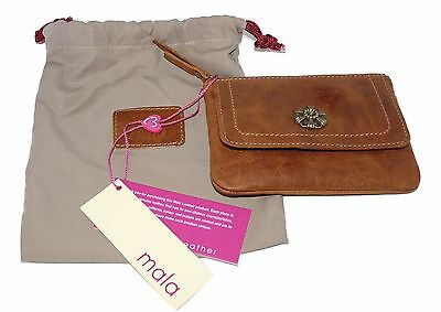 Mala leather 3318 88 TAN Leather flapover tudor collection ladies purse