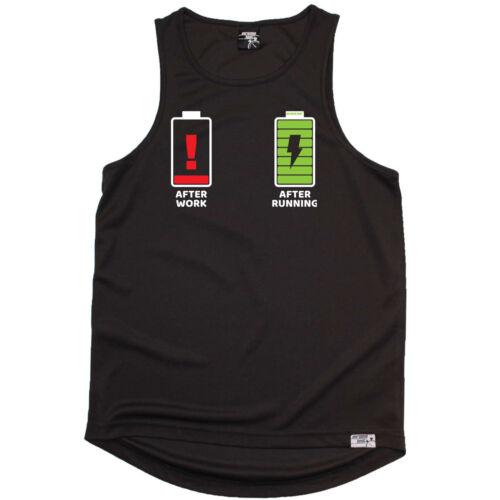 Battery Running Vest Funny Mens Sports Performance Singlet