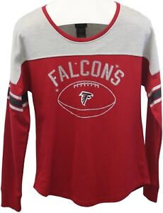 super popular a206d c6456 Details about NFL Juniors Collection Atlanta Falcons Long Sleeve Glitter  Shirt Top Sz L 11/13