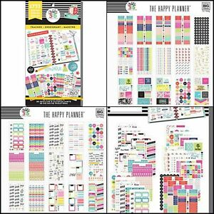 Details about Happy Planner Stickers Monthly Weekly Day Value Pack Paper  Crafts Big Teacher