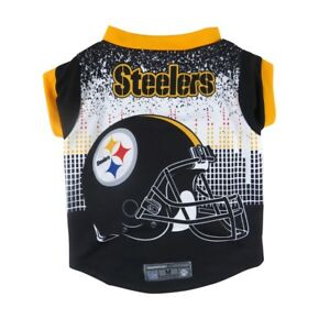 Pittsburgh-Steelers-NFL-Licensed-Dog-LEP-Pet-Performance-Tee-Sizes-XS-XL