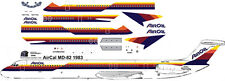Air Cal Mc Donnell Douglas MD-82 airliner decals for Minicraft 1/144 kits
