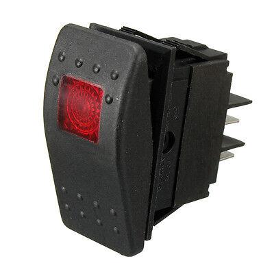 WATERPROOF ROCKER TOGGLE SWITCH RED LED LIGHT BAR FOG SPOT BOAT MARINE ON/OFF