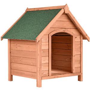 Niche pour chien en bois avec toit pointu cabane extérieure maison refuge
