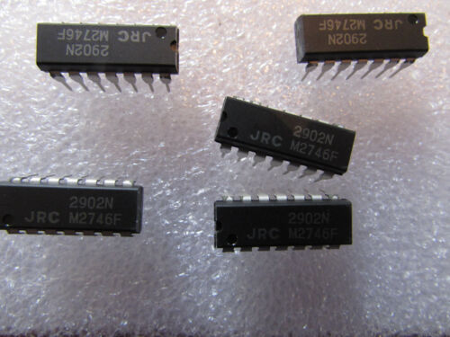 5 pieces inc OP AMP QUAD GP 15V//30V 14Pin Dip NJM2902N JRC New JAPAN Radio Co
