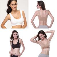 Racerback Sports Bra Yoga Padded Women Seamless Stretch Workout Top Tank Comfort