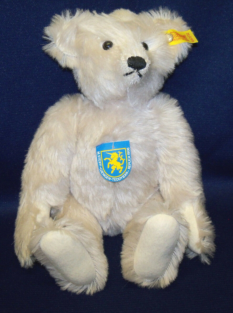 1985 German Steiff 12  Giengen 1906 Replica grigio Jointed Teddy Bear  0169 32