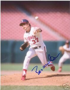 BOB MCCLURE CALIFORNIA ANGELS SIGNED 8X10 PHOTO W/COA