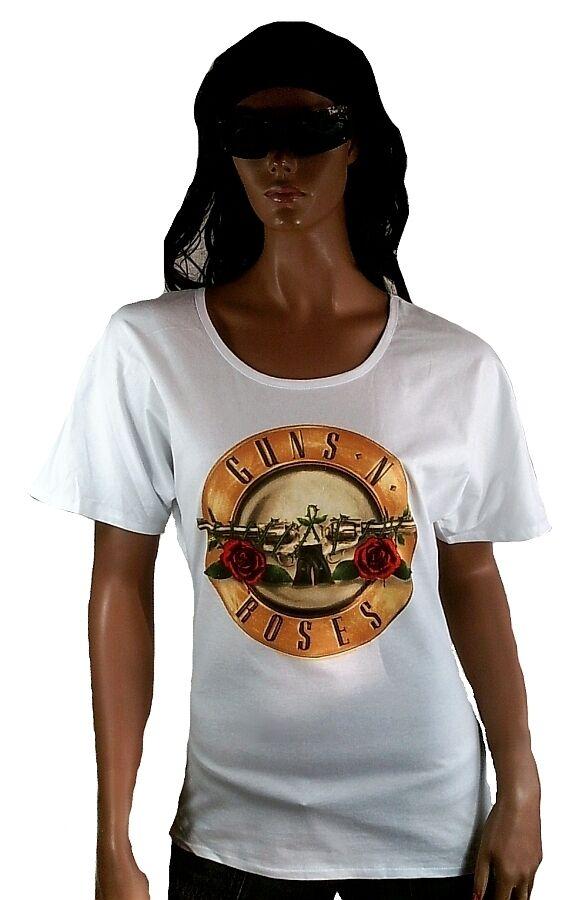 AMPLIFIED GUNS N'RosaS Drum Logo Rock Star ViP Designer OVERGröße T-SHIRT M 40