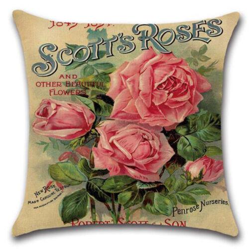 Kissenbezug Blumen Kissenhüllen Kissenbezüge Sofakissen Dekokissen Bezug 45x45cm