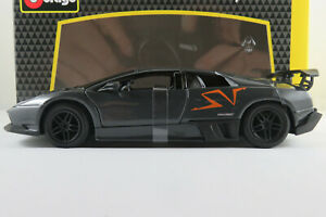 Bburago-18-20007-Lamborghini-Murcielago-LP-670-4-SV-in-graumet-1-24-NEU-OVP