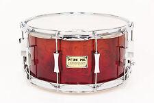 Pork Pie 7x14 Maple Snare w/ Waterfall Bubinga Veneer Fade - Auth. Dealer NEW