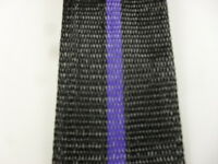 Aluminum Lawn Chair Webbing 39ft New, 2 1/4in Wide Black With Purple Stripe