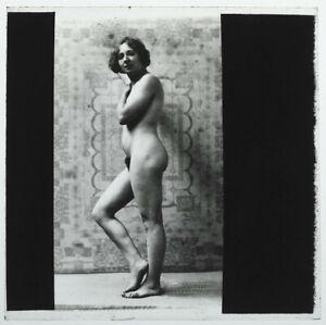 Original-1920s-standing-female-nude-glass-positive-artistic