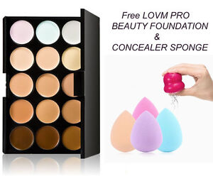 Mac-Lidschatten-x15-Warm-Neutral-Palette-Sponge-Puff-Puderpinsel-Kosmetik-DE