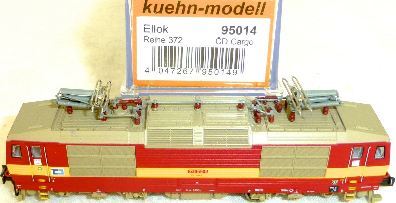 Locomotiva Rh372 CD Cargo Ellok Stampa di Gnocco Kühn 95014 Scala N 1 160 Nuovo