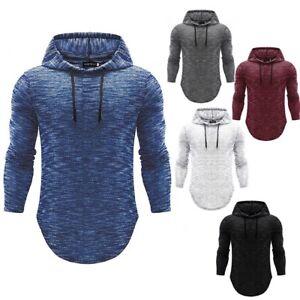 Men-Slim-Athletic-Gym-Muscle-Hoodies-T-shirt-Tops-Hooded-Long-Sleeve-Blouse-Lot
