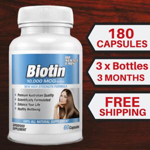 Biotin-180-Capsules-10-000mcg-Maximum-Strength-Hair-Skin-Nails-QTY-DISC-BUY